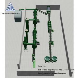 China 1 Ton/ hour Organic fertilizer granulation machine production line/fertilizer plant on sale
