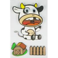 China Cow Design Kids Scrapbook Stickers , Custom Die Cut Stickers 1.0 Mm Thin wholesale