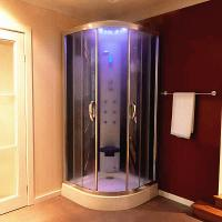 Multi Function Massage Steam Shower Bath Cabin Mirror Glass Back Wall
