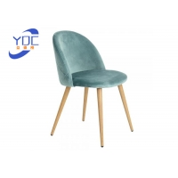 Buy cheap Restaurant Dining Modern Fabric Chair With Metal / Wooden Legs from wholesalers