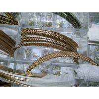 Quality Alloy Half oval metal trim Eco-friendly with Irregularity Flowers Gold for sale