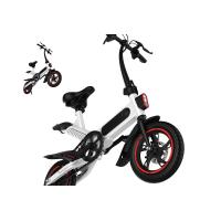 Quality High Load Ability Small Folding Electric Bike White / Black / Red Ergonomics Design for sale