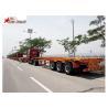China 65T Payload Tipping Skeletal Trailers , Q345B Steel Sliding Skeletal Trailer wholesale