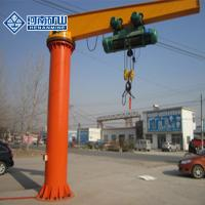 High Speed Hitachi Pillar Mounted Jib Crane , Vacuum Mounted Slewing Jib Crane