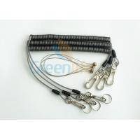 China Security Rope Wire Retractable Coil Cord Fall Protection For Tools , 3 Meter Max Stretch wholesale