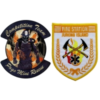 China 3D Embossed Fire Department Patches wholesale
