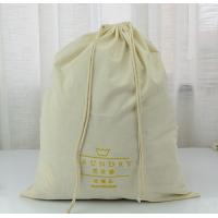 China Custom Extra Large Natural Cotton Laundry Bag With Rope wholesale