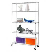 China H175 Chrome Plating  Display Shelf Floor Standing Display Unit Easy To Install Mobile Rack with 4pcs Casters wholesale
