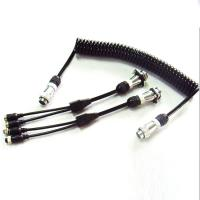 China 5 Pin PU Coiled Trailer Cable , Spiral Electrical Cable For Back Rear Camera wholesale