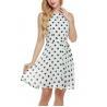 China Bow Waist Short Chiffon Summer Dresses , Plus Size Polka Dot Maxi Dress wholesale