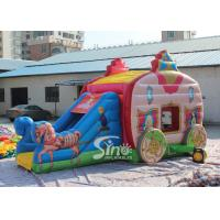 China Princess Carriage Inflatable Jumping Castle Slide With Lead Free Material For Kids Parties wholesale