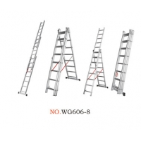 China Non Insulated 7.34m 3x11 Portable Folding Ladder wholesale