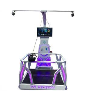 China Amusement Park Virtual Reality Shooting Simulator Standing Platform Customized Color on sale