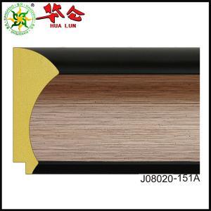 China J08020 series Hualun Guanse polystyrene Foaming riendly PS foam mirror frame mouldings on sale