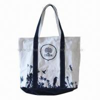 China CE and EN 71 Certified Cotton Shopping Bag, Made of Natural Cotton, Azo-dye Free, Eco-friendly wholesale