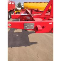 China 20ft skeleton semi trailer 2 axles/ bare chassis trailer on sale