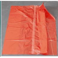 China Red Color Water Soluble Laundry Sacks Cold Water Soluble Bags With Strip CE ISO wholesale