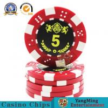 China Durable Plastic UV Light Casino Poker Chips High - Temperature Bronzing wholesale