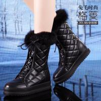China Wholesale winter warm real leather snow white boot,Europe design fashion furry flat boots wholesale