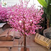 China UVG Dongguang manufactory make pink landscape artificial peach blossom trees for emporium decoration CHR152 wholesale