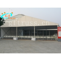 China Light Weight Oxford Aluminum Party Tent With Curved Truss System wholesale