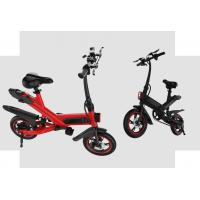 China White / Black / Red Fold Up Electric Bike , Electric Mini Bike For Adults wholesale