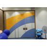 China Sponge Leather Acoustic Flexible Office Partition Walls / Aluminium Frame Folding Sliding Doors wholesale