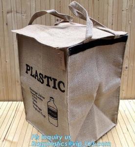 China Lightweight collapsible jute fabric storage bin basket,Jute multifunctional moisture-proof debris storage basket desktop wholesale