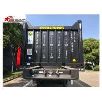 China 3 Axles 40ft Tipping Skeletal Container Trailer Chassis For Container Dump Discharge wholesale