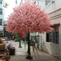 China UVG 17 foot large cheap artificial trees in silk cherry blossoms for wedding background decoration CHR161 wholesale
