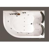Contemporary Whirlpool Therapy Tubs Curved Apron Bathtub With Thermostatic Faucet
