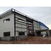 China Light Type Steel Structure Warehouse , Customized Prefab Metal Buildings wholesale