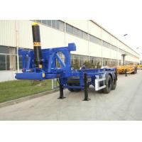 China 2 Axles 20ft Flatbed Container Trailer Truck Container Dump Trailer wholesale