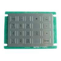 Quality IP65 dynamic rated vandal proof Vending Machine Keypad with short stroke with 20 keys for sale