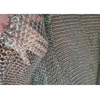 China Stainless Steel Anti Cut Metal Ring Mesh Chainmail Mesh Use For Exhibition Halls wholesale