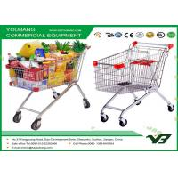 Quality Four Wheeled High Capacity Supermarket Shopping Trolley , retail shopping carts for sale