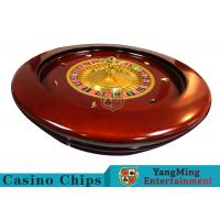 Deluxe Solid Wooden Roulette Wheel Game Difficult To Deformation For Casino for sale