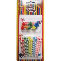 Quality Heart Head Spiral Shaped Birthday Candle Cuter 10 Candles With 10 Holders wholesale