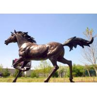 China Large Running Bronze Garden Statues Horse Sculpture Corrosion Stability wholesale