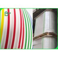 China 14mm 15mm 60gsm Food Safe Ink Color Printable Straw Paper Roll Fully Compostable on sale