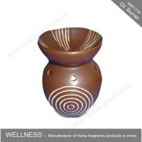 China Different Classic Shaped Ceramic Aroma Oil Burner With Spiral Pattern wholesale