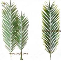 Buy cheap UVG new design small PU real touch artificial palm tree leaves for club from wholesalers