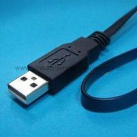 Quality Flat-type USB Phone Cord with USB Jack Connector to Extension Cable Assembly for Electric Ethernet for sale