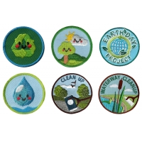 China Shrink Proof Iron On Environmental Patches Pantone Embroidery School Badge wholesale
