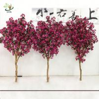China UVG 2m Rose pink artificial cherry tree branches with silk blossoms for garden decoration wholesale