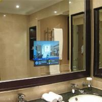 China tv screen hidden mirror glass ,Bathroom TV Mirror, eb glass on sale