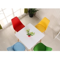 China Linen Husk Genuine PU Dining Chair With Curved Backrest Design wholesale