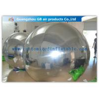 PVC Silver Inflatable Mirror Ball , Christmas Inflatable Yard Decorations Balloons