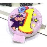 China Specialty Round Numeral Candles For Birthdays With Colored Background Star Printed wholesale