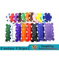 China 11.5g - 32g Clay Poker Chips With Sticker With Unique Dice Fancy Mold Design wholesale